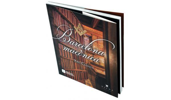 Imatge de la coberta del llibre 'Barcelona maçònica', amb una foto de la biblioteca Arús