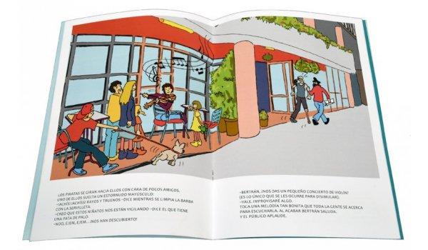 Imatge de les pàgines interiors del llibre 'Barcelona. Piratas en la biblioteca'