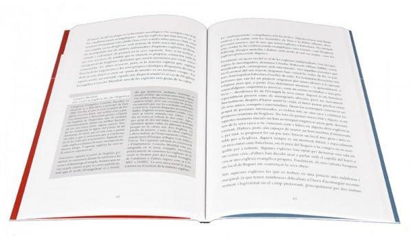 Imatge de les pàgines interiors del llibre 'El protestanisme a la ciutat de Barcelona'