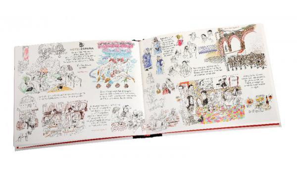 Imatge pàgines interiors del llibre El Raval Carnet de Voyage