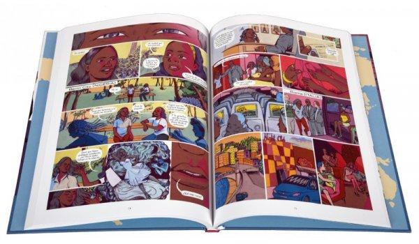 Imatge de les pàgines interioers del llibre 'Un regalo para Kushbu'