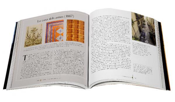 Imatge de les pàgines interiors del llibre 'El quarter de Sant Pere' on es parla de La Casa dels Amos de 1868