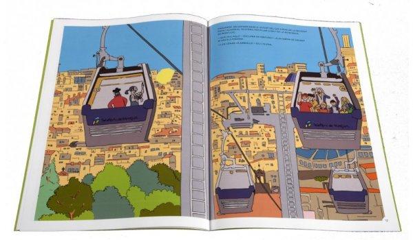 Imatge de les pàgines interiors del llibre 'Els sis a Barcelona. Sants_Montjuïc està embruixat'