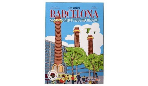 Imatge de la coberta del llibre 'Sants-Montjuïc está hechizado'