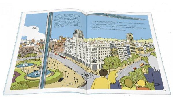 Imatge de les pàgines interiors del llibre 'Els sis a Barcelona. Secrets a l'Eixample'