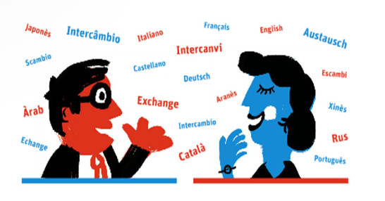 Dónde hacer intercambio de idiomas en Barcelona