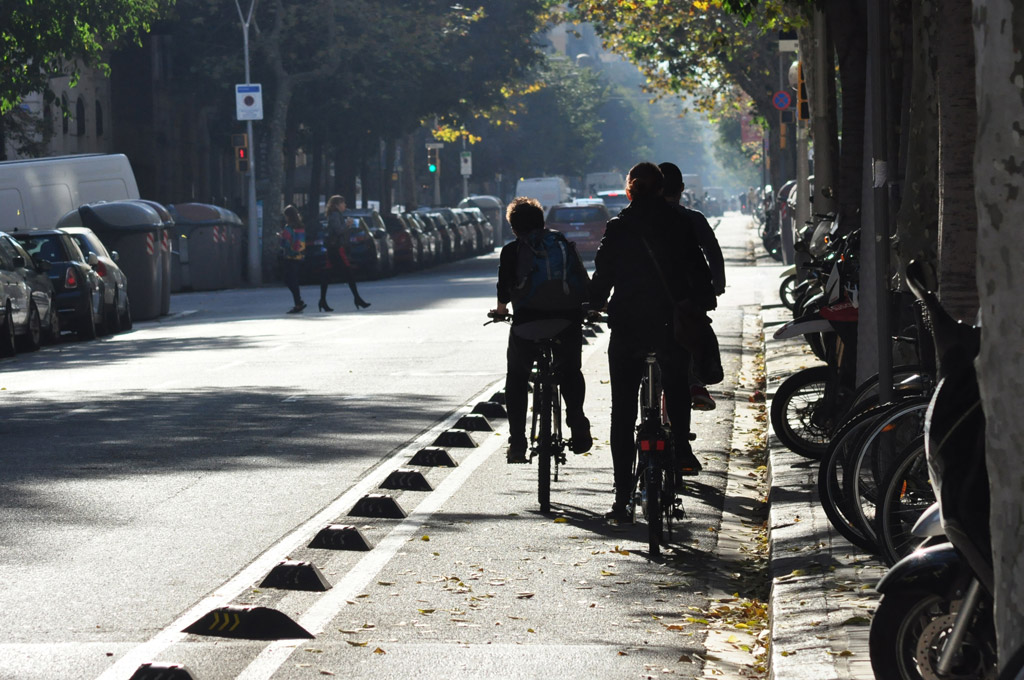 Mapa Carrils Bici Barcelona.Xarxa De Carrils Bici Bicicleta