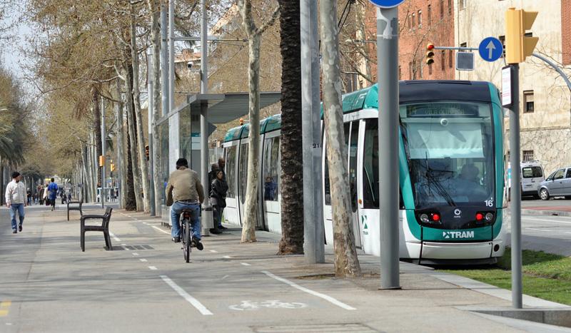 Carrils bici - Unidireccional en vorera