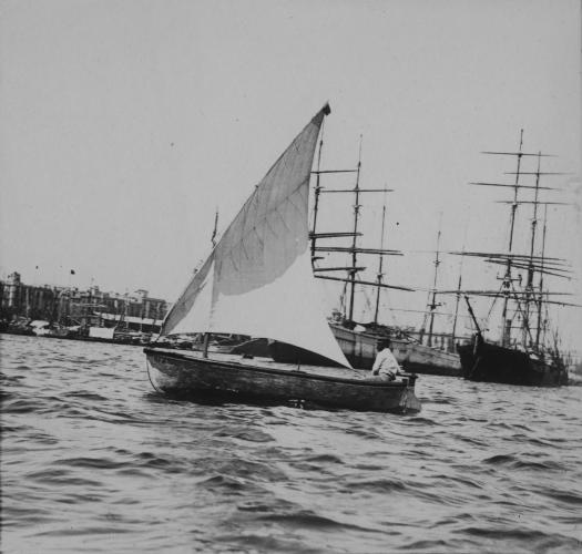 Veler navegant davant dels vaixells