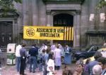 Acte de l'Associació de Veïns a la plaça de la Barceloneta