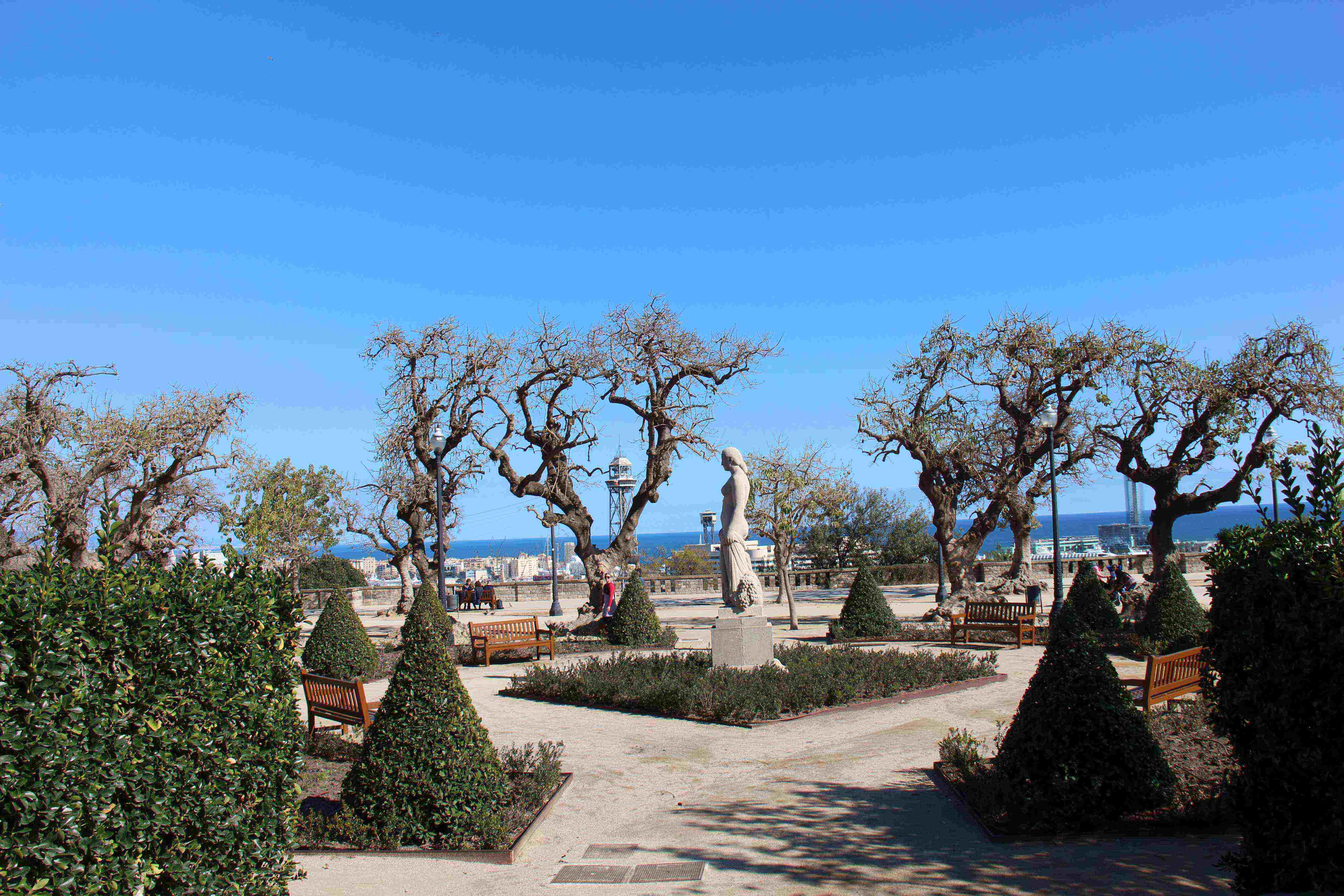 Forestier a montju c el jard n como obra de arte castell for Jardin de miramar