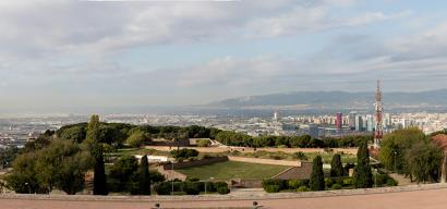 Panoramic view towards the airport