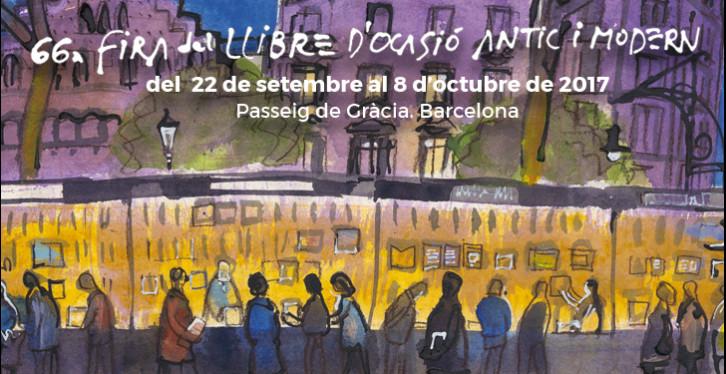 Cartell Fira Llibre Vell i d_Ocasió-Josep Moscardó