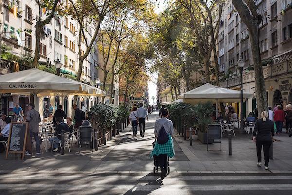 Calle en el barrio de la Barceloneta