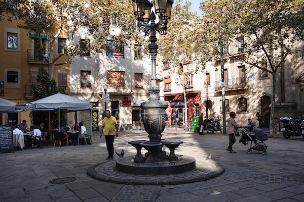 Plaça al barri de la Barceloneta