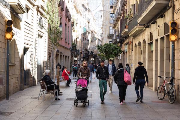 Calle en el barrio de Sant Pere, Santa Caterina i la Ribera