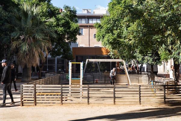 Parque en el barrio de Sant Pere, Santa Caterina i la Ribera