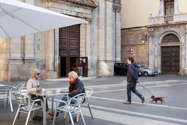 Plaça al barri Gòtic