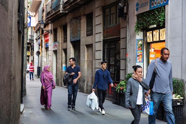 Calle en el barrio del Raval