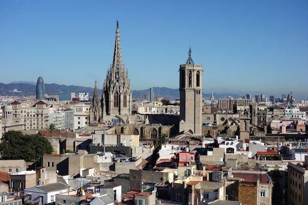 Vista panorámica del barrio Gòtic
