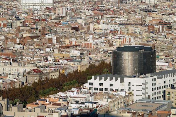 Vista panorámica del barrio del Raval