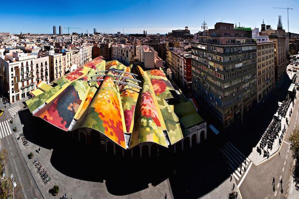 Vista panorámica del barrio de Sant Pere, Santa Caterina i la Ribera
