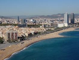 Vista panorámica del barrio de la Barceloneta