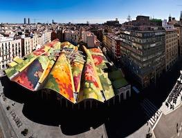 Vista panoràmica del barri de Sant Pere, Santa Caterina i la Ribera