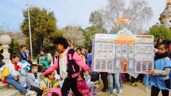 L'Aplec del Pas realitzat per estudiants de primària i secundària