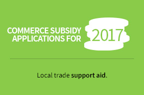 Commerce subsidy aplications for 2017. Local trade support aid