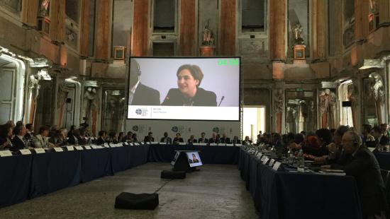 La Alcaldesa de Barcelona, Ada Colau ha firmado el Pacto de Políticas Alimentarias en Milán