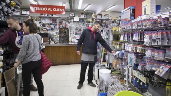 Interior d'una de les botigues que fan de Barcelona un model del comerç