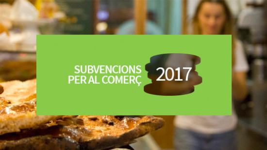 Subvencions per al comerç 2017