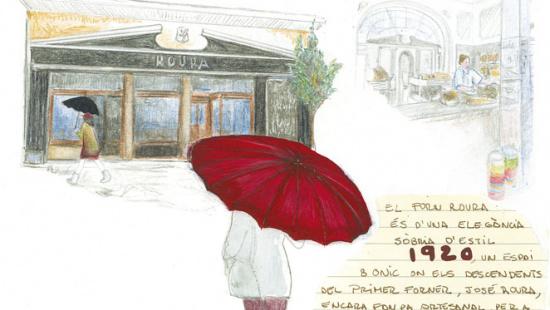 Forn Roura, al carrer Calaf de Sarrià-Sant Gervasi