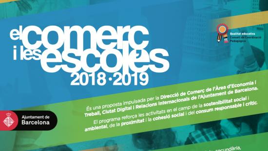 El Comerç i les Escoles 2018-2019 program.