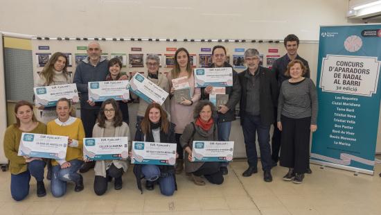 Els comerciants premiats a la 3a edició del Concurs d'Aparadors de Nadal al barri