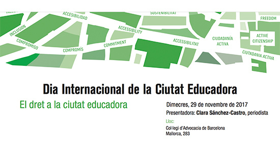 "The ""Commerce and Schools"" experience is presented at the conference on ""The right to an Educating City"""