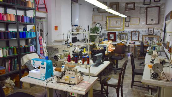Un dels espais de treball