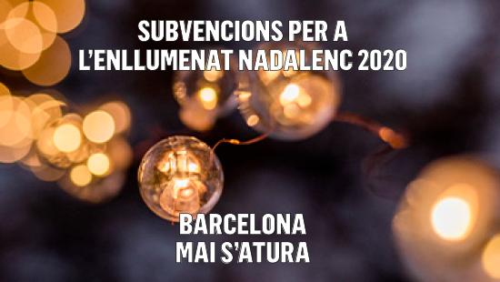 Subvencions per a l'enllumenat nadalenc de Barcelona 2020