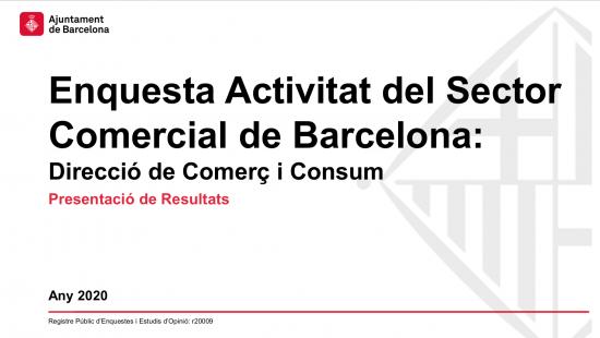 Informe de comerç de Barcelona 2020