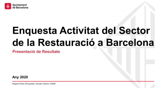 Enquesta d'activitat del sector de la restauració de Barcelona