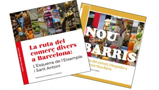 """Edició sobre l'Esquerra de l'Eixample i Nou Barris de la col·lecció """"La ruta del comerç divers a Barcelona"""""""