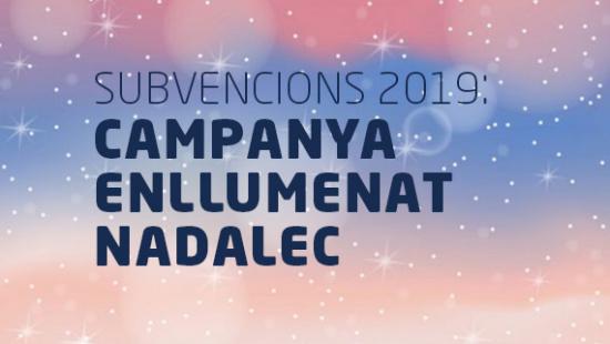 Subvencions enllumenat nadalec 2019