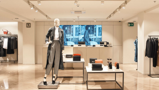 Interior remodelat de la botiga de Massimo Dutti a Portal de l'Àngel. Foto cedida per Massimo Dutti.
