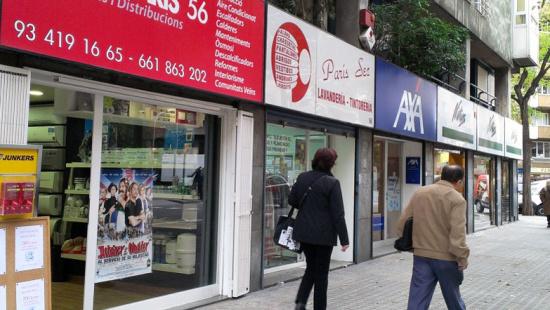 Imagen de uno de las calles del eje comercial de Nou Eixample