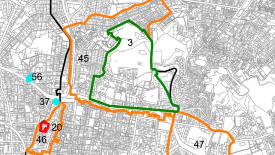 Àmbit dels entorns del Park Güell regulat per la normativa