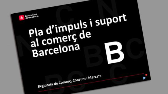 Portada Pla d'impuls i suport al comerç de Barcelona 2013-2016
