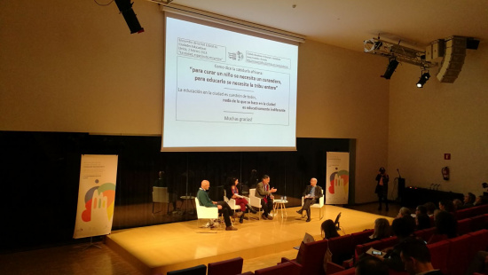 Sessió de la trobada de Ciutats Educadores a Lleida