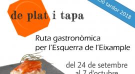 """La ruta gastronòmica """"De Plat i Tapa"""""""