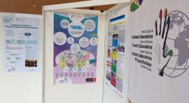 """Cartell del programa """"El comerç i les Escoles"""" a la trobada de Lleida"""